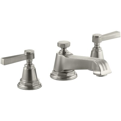 Pinstripe Widespread Bathroom Sink Faucet with Lever Handles Finish: Vibrant Brushed Nickel