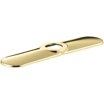Escutcheon Plate for Three-Hole Installations Finish: Vibrant Polished Brass