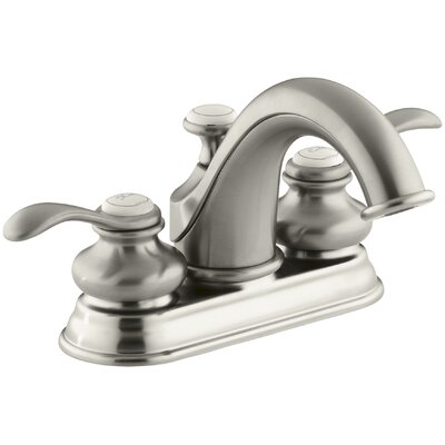 Fairfax Centerset Double Handle Bathroom Faucet with Drain Assembly Finish: Vibrant Brushed Nickel