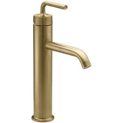 Purist Tall Single-Hole Bathroom Sink Faucet with Straight Lever Handle Finish: Vibrant Moderne Brushed Gold
