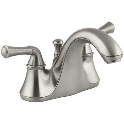 Forte Centerset Double Handle Bathroom Faucet with Drain Assembly Finish: Vibrant Brushed Nickel