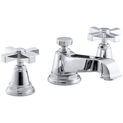 Pinstripe Pure Widespread Bathroom Sink Faucet with Cross Handles Finish: Polished Chrome
