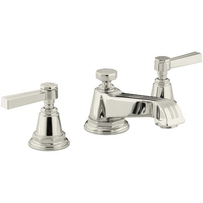 Pinstripe Widespread Bathroom Sink Faucet with Lever Handles Finish: Vibrant Polished Nickel