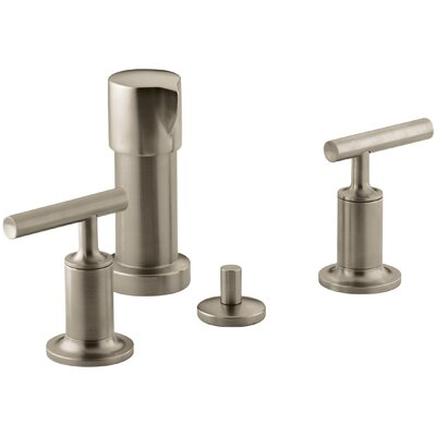 Purist Vertical Spray Bidet Faucet with Lever Handles Finish: Vibrant Brushed Bronze