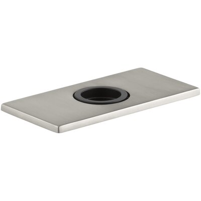 Optional Escutcheon Square Plate for Insight Faucet Finish: Vibrant Stainless