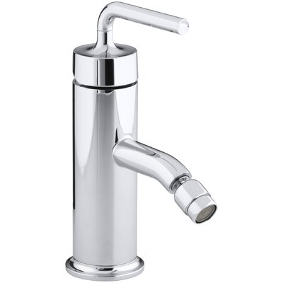Purist Horizontal Swivel Spray Aerator Bidet Faucet with Straight Lever Handle Finish: Polished Chrome