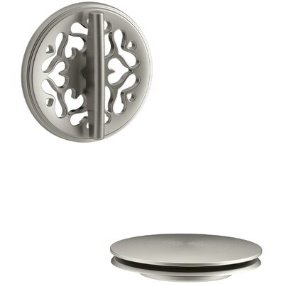 PureFlo Victorian Rotary Turn Bath Drain Trim Finish: Vibrant Brushed Nickel