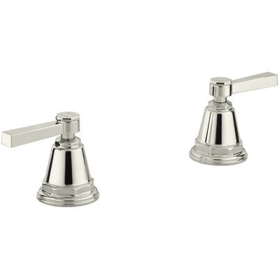 Pinstripe Pure Deck-Mount High-Flow Bath Valve Trim with Lever Handles, Handles Only, Valve Not Included Finish: Vibrant Polished Nickel