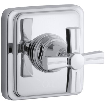 Pinstripe Valve Trim with Cross Handle for Volume Control Valve, Requires Valve Finish: Polished Chrome