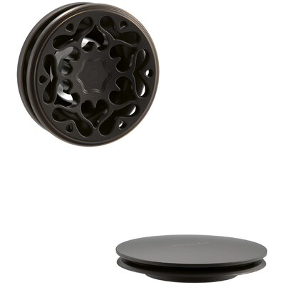 PureFlo Victorian Push Button Bath Drain Trim Finish: Oil Rubbed Bronze