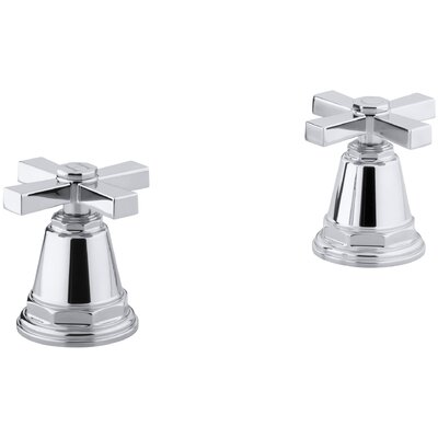 Pinstripe Pure Deck-Mount High-Flow Bath Valve Trim with Cross Handles, Handles Only, Valve Not Included Finish: Polished Chrome