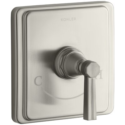 Pinstripe Valve Trim with Lever Handle for Thermostatic Valve, Requires Valve Finish: Vibrant Brushed Nickel