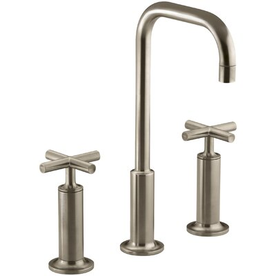 Purist Widespread Bathroom Sink Faucet with High Cross Handles and High Gooseneck Spout Finish: Vibrant Brushed Bronze