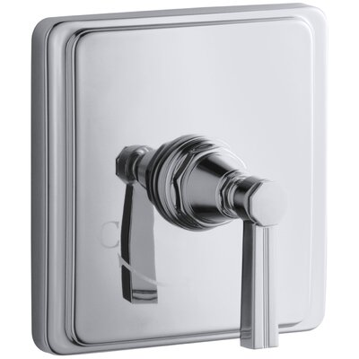 Pinstripe Valve Trim with Lever Handle for Thermostatic Valve, Requires Valve Finish: Polished Chrome
