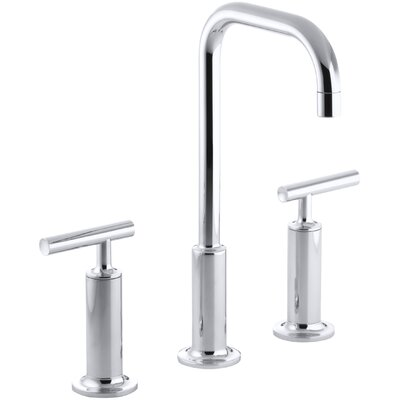 Purist Widespread Bathroom Sink Faucet with High Lever Handles and High Gooseneck Spout Finish: Polished Chrome