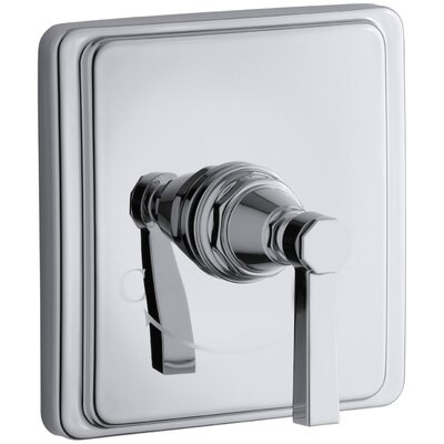 Pinstripe Valve Trim with Pure Design Lever Handle for Thermostatic Valve, Requires Valve Finish: Polished Chrome