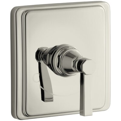 Pinstripe Valve Trim with Pure Design Lever Handle for Thermostatic Valve, Requires Valve Finish: Vibrant Polished Nickel