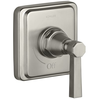Pinstripe Valve Trim with Pure Design Lever Handle for Volume Control Valve, Requires Valve Finish: Vibrant Brushed Nickel