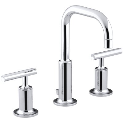 Purist Widespread Double Handle Bathroom Faucet with Drain Assembly Finish: Polished Chrome