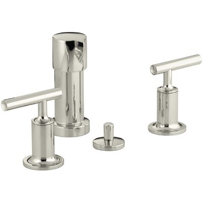 Purist Vertical Spray Bidet Faucet with Lever Handles Finish: Vibrant Polished Nickel