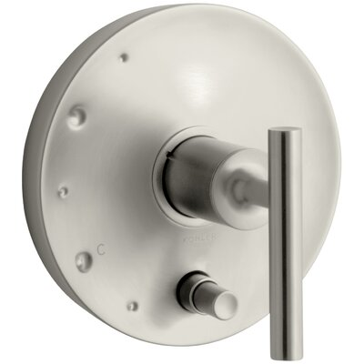 Purist Rite-Temp Pressure-Balancing Valve Trim with Lever Handles Finish: Vibrant Brushed Nickel