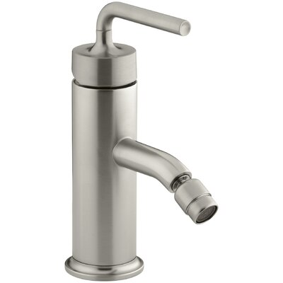 Purist Horizontal Swivel Spray Aerator Bidet Faucet with Straight Lever Handle Finish: Vibrant Brushed Nickel