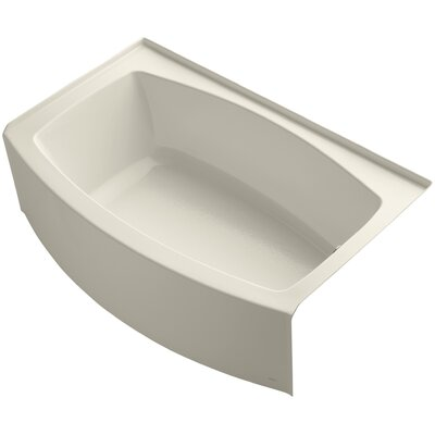Expanse Alcove 60 x 32 Soaking Bathtub Sink Finish: Almond