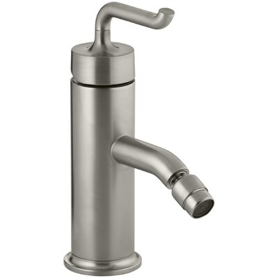 Purist Horizontal Swivel Spray Areator Bidet Faucet with Smile Design Handle Finish: Vibrant Brushed Nickel