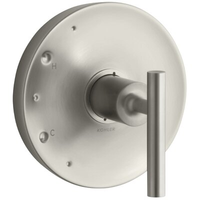 Purist Valve Trim with Lever Handle for Rite-Temp Pressure-Balancing Valve Finish: Vibrant Brushed Nickel K-T14423-4-BN