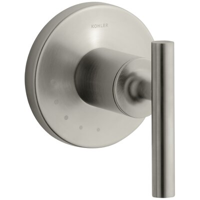 Purist Valve Trim with Lever Handle for Volume Control Valve Finish: Vibrant Brushed Nickel