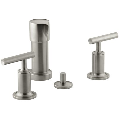 Purist Vertical Spray Bidet Faucet with Lever Handles Finish: Vibrant Brushed Nickel