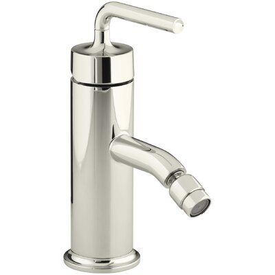 Purist Horizontal Swivel Spray Aerator Bidet Faucet with Straight Lever Handle Finish: Vibrant Polished Nickel