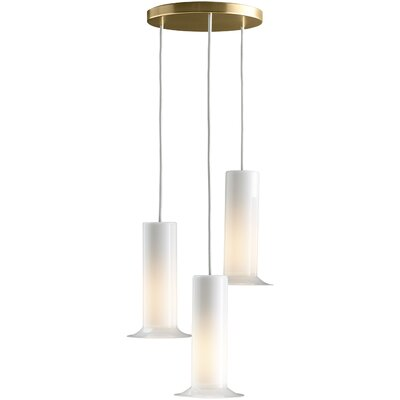 Purist Triple Ceiling-Mount Pendant Finish: Vibrant Moderne Brushed Gold
