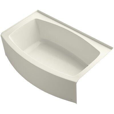 Expanse Alcove 60 x 32 Soaking Bathtub Sink Finish: Biscuit