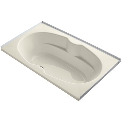 Alcove 72 x 42 Soaking Bathtub Sink Finish: Almond