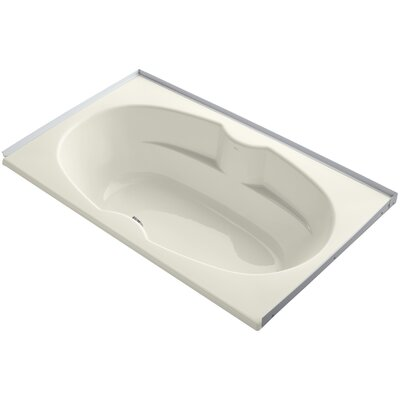 Alcove 72 x 42 Soaking Bathtub Sink Finish: Biscuit