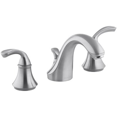 Fort� Widespread Bathroom Sink Faucet with Sculpted Lever Handles Finish: Brushed Chrome