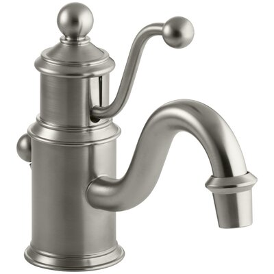 Antique Single-Hole Bathroom Sink Faucet with Lever Handle Finish: Vibrant Brushed Nickel