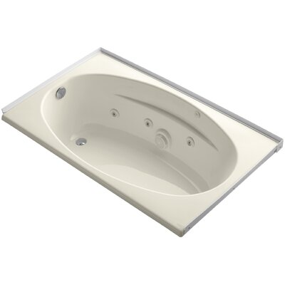 60 x 36 Alcove Whirlpool with Flange and Left-Hand Drain Finish: Almond
