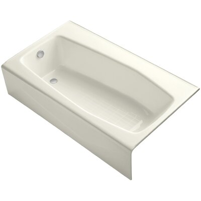 Villager Alcove 60 x 34 Soaking Bathtub Finish: Biscuit
