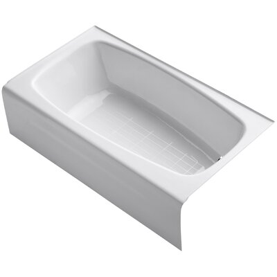 Seaforth Alcove 54 x 31 Soaking Bathtub Finish: White