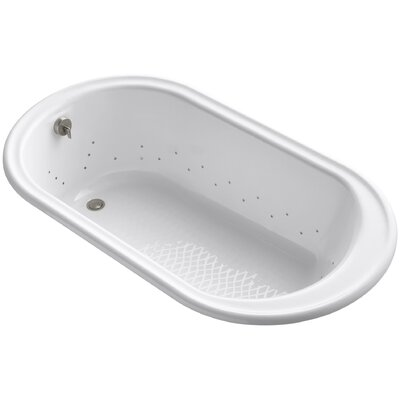 Iron Works 66 x 36 Air Bathtub Jet Finish: Brushed Nickel, Finish: White