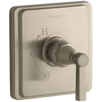 Pinstripe Valve Trim with Pure Design Lever Handle for Rite-Temp Pressure-Balancing Valve Finish: Vibrant Brushed Bronze