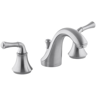 Fort� Widespread Bathroom Sink Faucet with Traditional Lever Handles Finish: Brushed Chrome