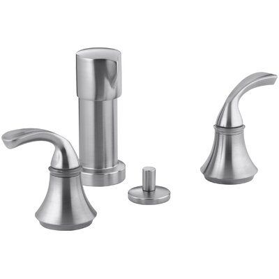 Fort� Vertical Spray Bidet Faucet with Sculpted Lever Handles Finish: Brushed Chrome