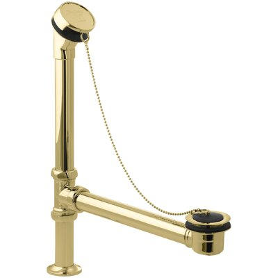 Antique 1.5 Chain and Plug Bathroom Sink Drain Finish: Vibrant Polished Brass