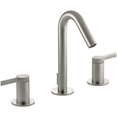 Stillness Widespread Double Handle Bathroom Faucet with Drain Assembly Finish: Vibrant Brushed Nickel