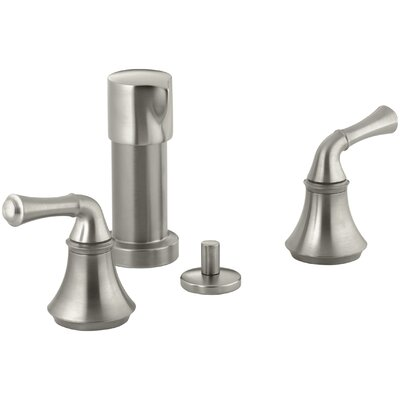 Fort� Vertical Spray Bidet Faucet with Traditional Lever Handles Finish: Vibrant Brushed Nickel