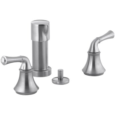 Fort� Vertical Spray Bidet Faucet with Traditional Lever Handles Finish: Brushed Chrome