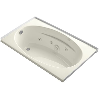 60 x 36 Alcove Whirlpool with Flange and Left-Hand Drain Finish: Biscuit